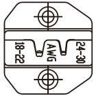Сменная матрица для обжима плоских неизолированных разъемов РП-П, РП-М (автоклемм) и разъемов D-SUB V.35 ProsKit 1PK-3003D36