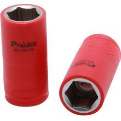"""Изолированная 1/2"""" торцевая головка  Proskit SK-V417B 17 мм (1000 В - VDE)"""